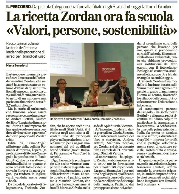 La giusta dimensione presentazione in Apindustria Vicenza