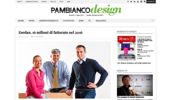 La giusta dimensione - Andrea Bettini - Zordan - Pambianco Design